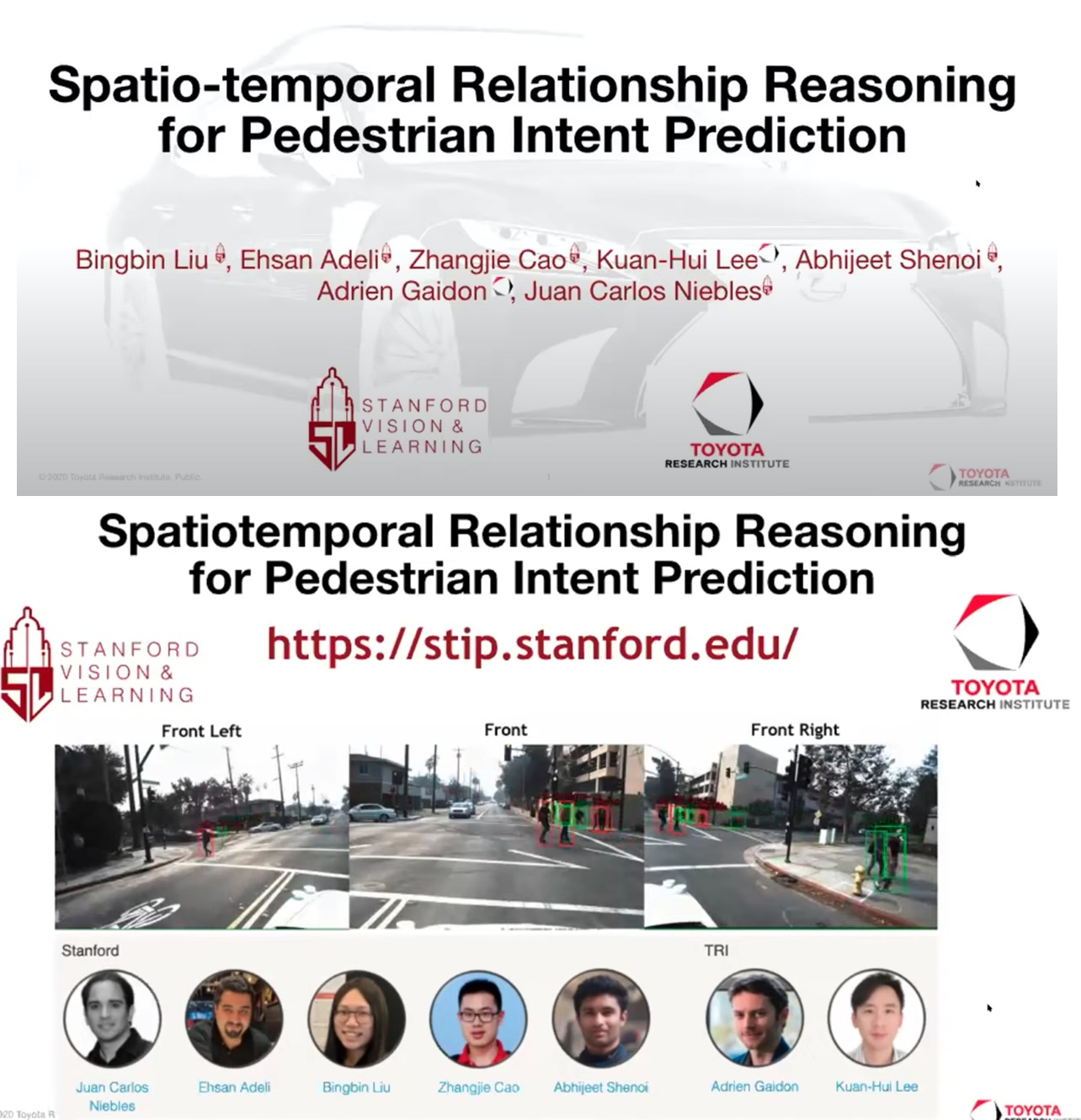ICRA 2020 LHMP workshop - Spatiotemporal Relationship Reasoning for Pedestrian Intent Prediction