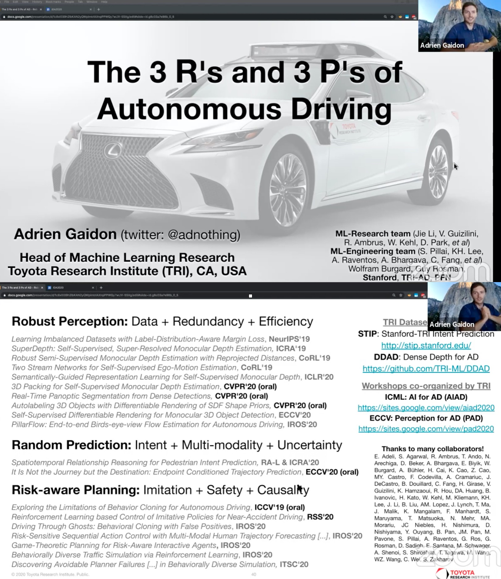 RSS 2020 IDA workshop The R's and P's of Autonomy