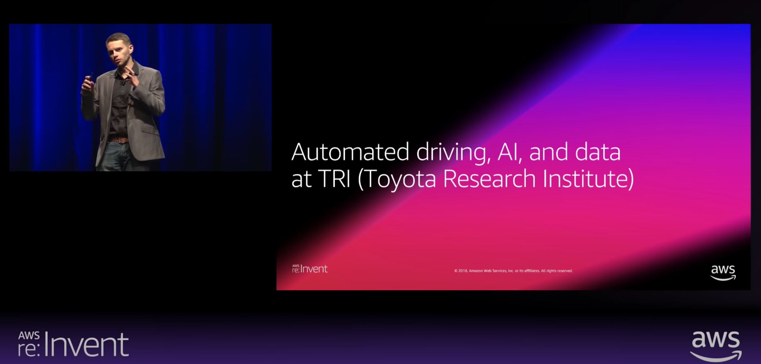 AWS re:Invent 2018: Advancing Autonomous Vehicle Development Using Distributed Deep Learning at TRI