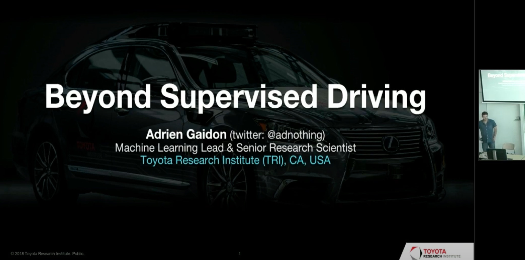Beyond Supervised Driving talk at QUVA, the joint lab between Qualcomm and the University of Amsterdam